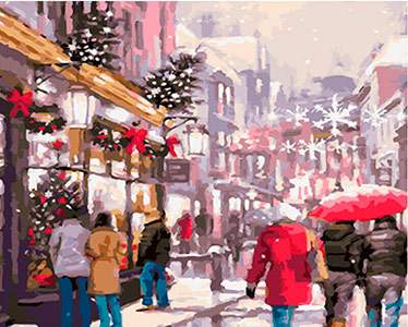 A Day Before Christmas Painting By Numbers - DIY Value Picture