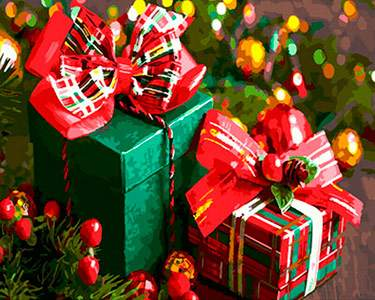 Christmas Gifts Painting by Numbers - DIY Value Picture