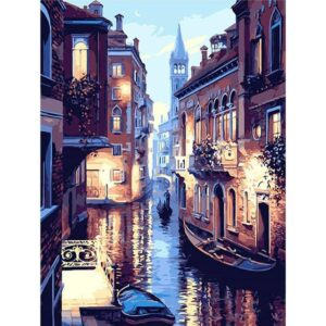 Venice at Night DIY paint by numbers Kits