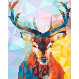 Mosaic Deer DIY Easy Paint By Number Kit for Adults