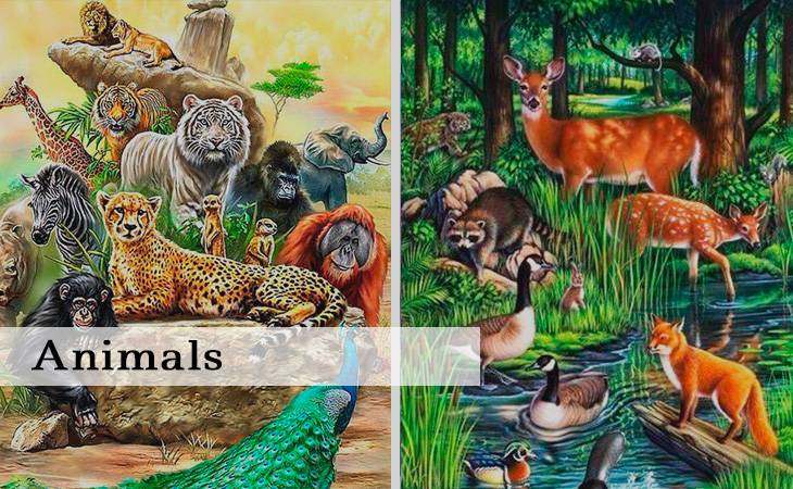 Animals Paint by Numbers Kit for Adults
