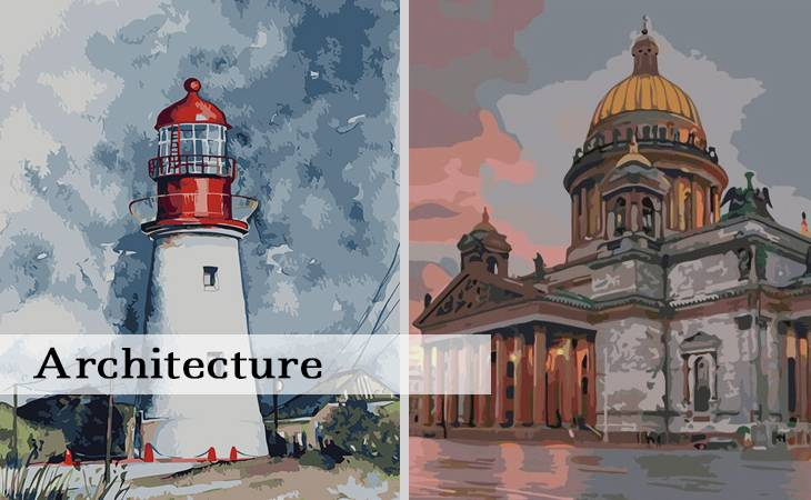 Architecture Paint by Numbers