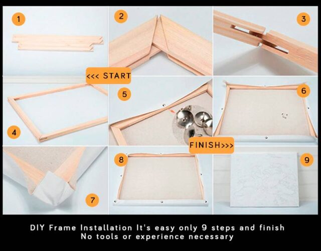 Assembling Frame for Paint by Number