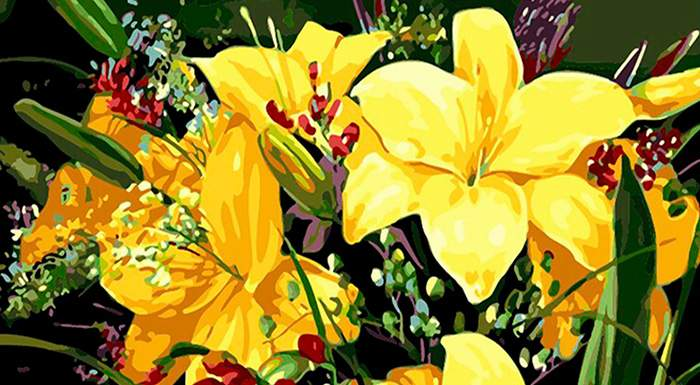 Best Collections Flowers in Paint by Numbers Kit