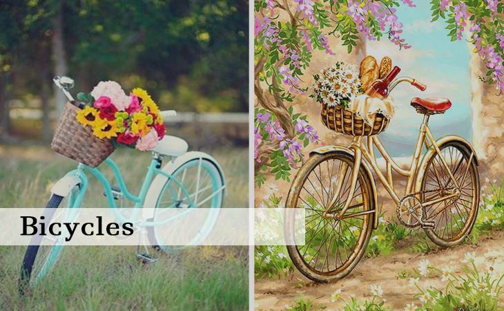 Bicycles Paint by Numbers