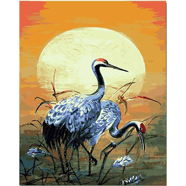 Sandhill Cranes Paint by Number