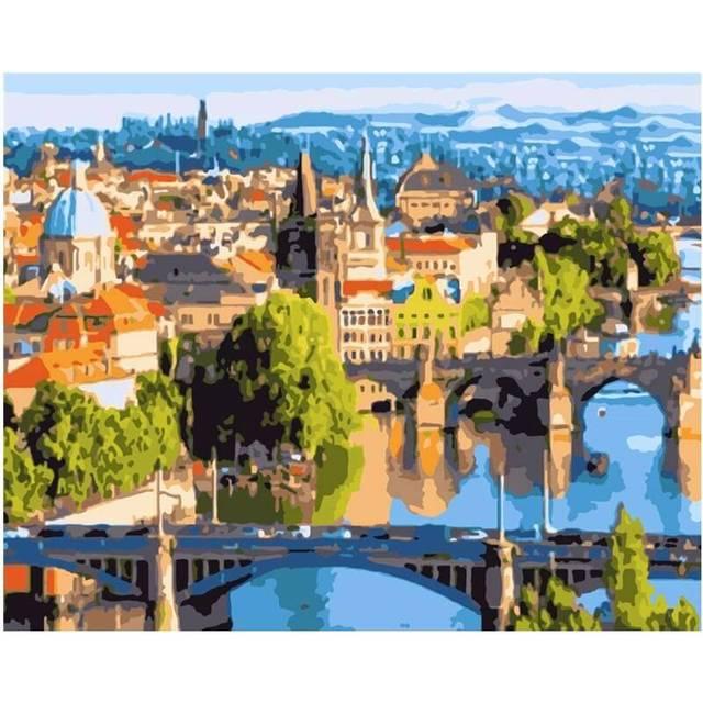 Bridges of Prague DIY Painting By Numbers Kit