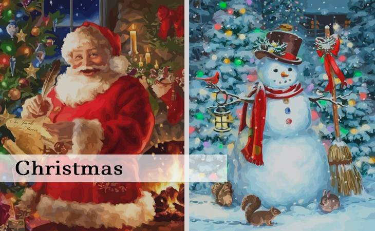 Christmas Paint by Numbers for Adults