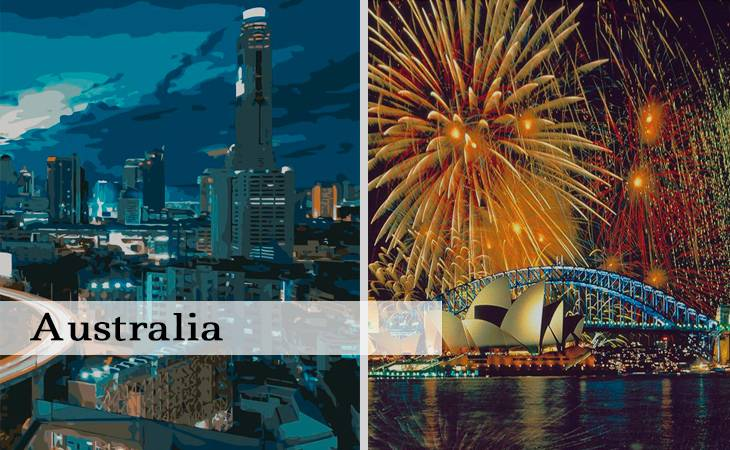 Cities of Australia Paint by Numbers