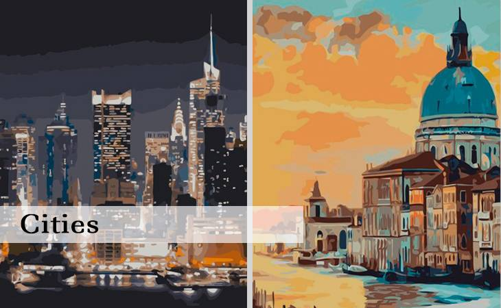 Cities Paint by Numbers