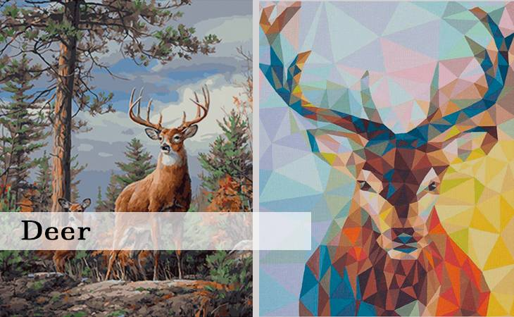 Deer Paint by numbers for Adults