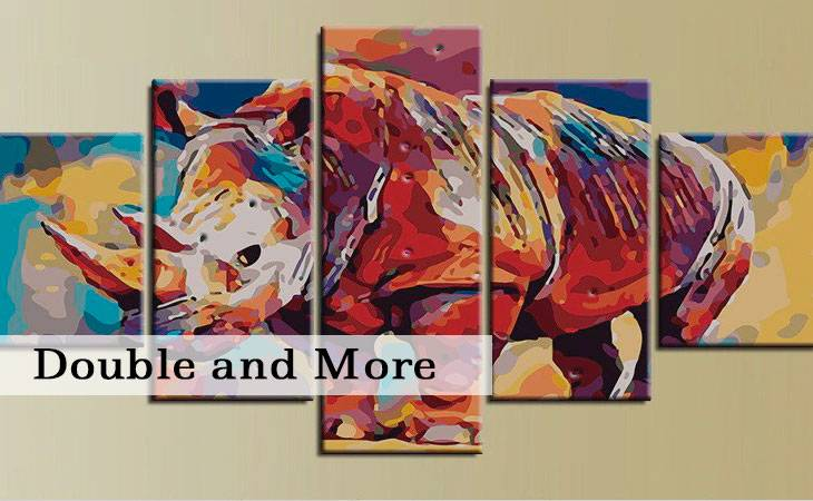 Double Panels and More Painting by Numbers