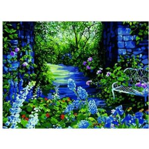 Evening Garden - Oil Painting by Numbers Kit