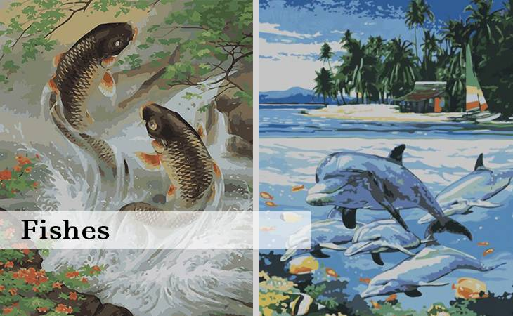 Fishes Paint by Numbers for Adults