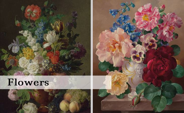 Flowers Paint by Numbers for Adults