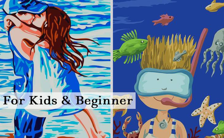For Kids and Beginner Paint by Numbers