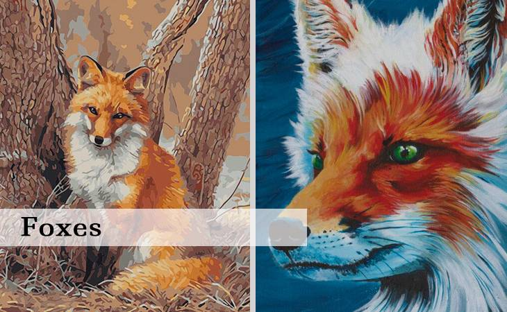 Foxes Paint by Numbers Kit