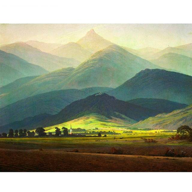 Landscape in Riesengebirge DIY Paint By Numbers Kit for Adults