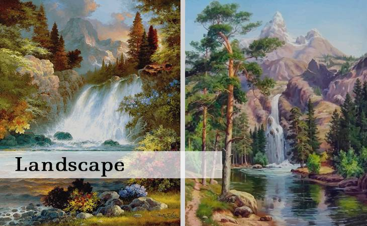 Landscape Paint by Numbers for Adults