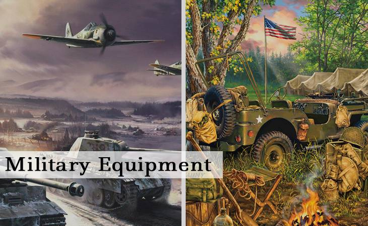 Military Equipment Paint by Numbers