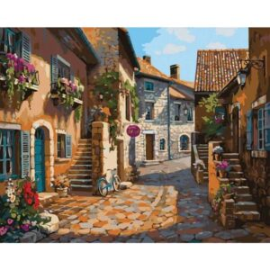 Old European Street Paint by Numbers Kit