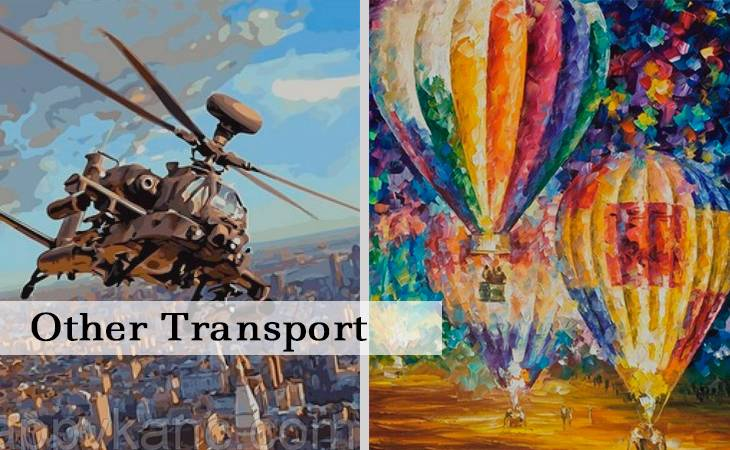 Other Transport Paint by Numbers
