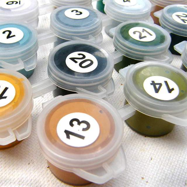 Pigments for DIY Paint by Number
