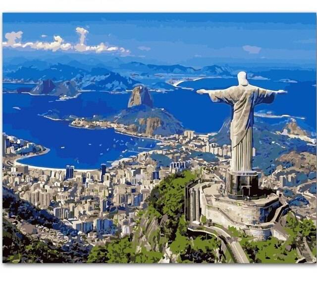 Statue of Christ the Redeemer DIY Paint By Number Kits