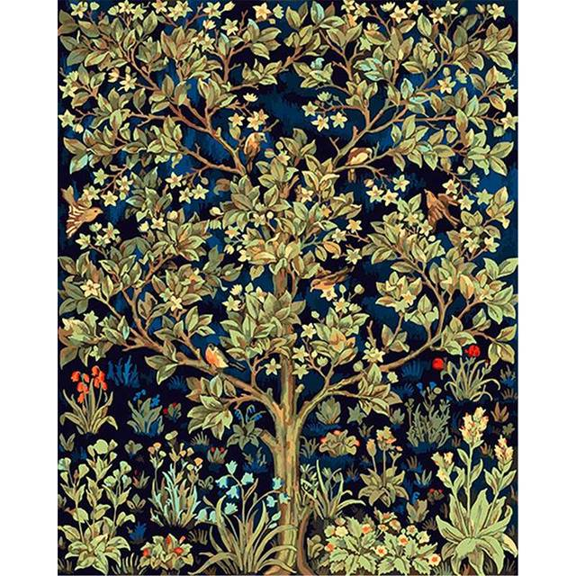 Tree of Life by William Morris Oil Painting By Numbers