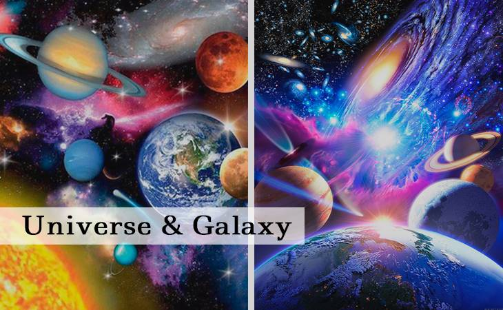 Universe and Galaxy Paint by Numbers