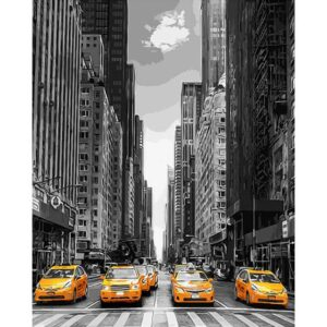 Yellow Cab in New York Paint by Number