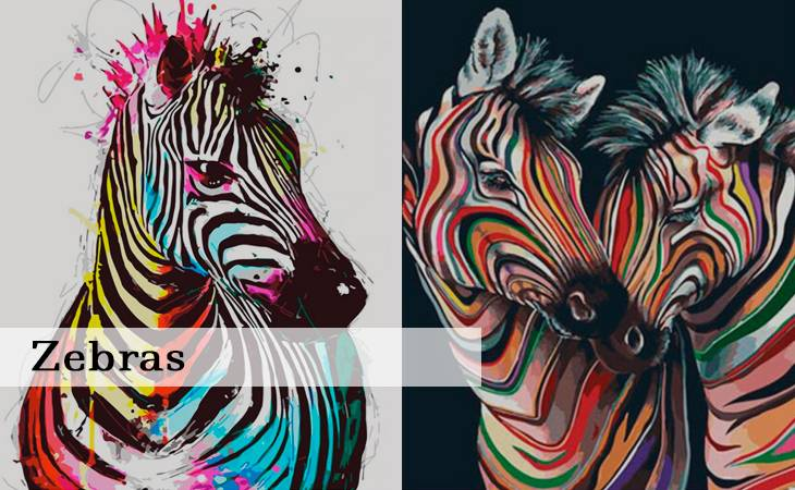Zebras Paint by Numbers