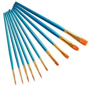 10 Pcs Blue Brushes Set for Paint by Numbers