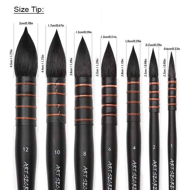 7 Different Sizes Art Brushes
