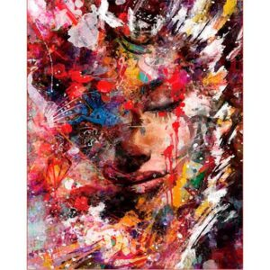 Abstract Female Face - DIY Paint on Canvas Kit