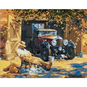 After Dinner by Alan Fearnley - DIY Canvas by Numbers Kit