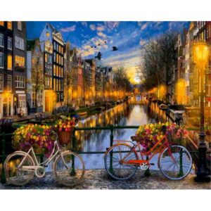 An Evening in Amsterdam Painting By Numbers Kit for Adults