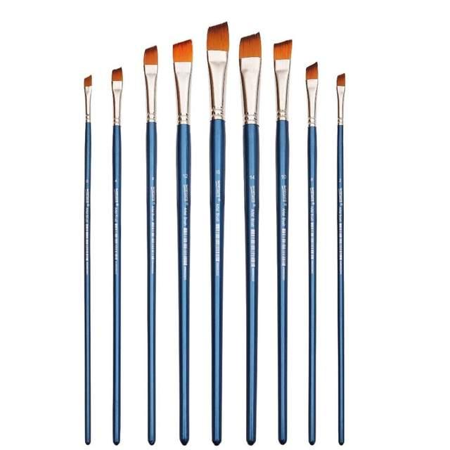 Art Paintbrush with Flat Tip Set