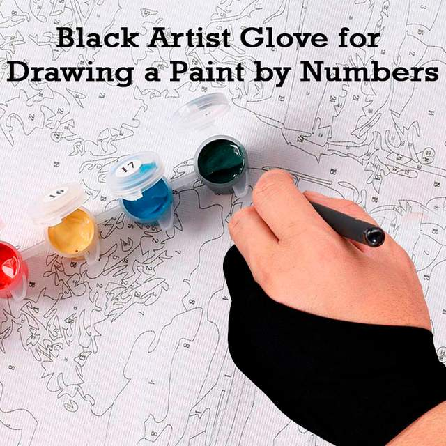Artist Glove for Drawing Paint by Numbers