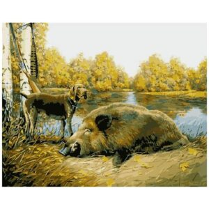 At Hunt - Oil Paint by Numbers Kit