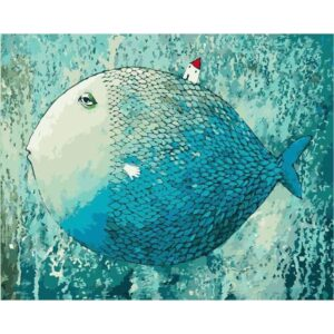 Big Blue Fish - DIY Oil Painting by Numbers Kits