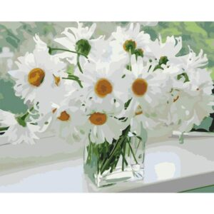 Bouquet White Daisies - Painting by Numbers Kit for Adults