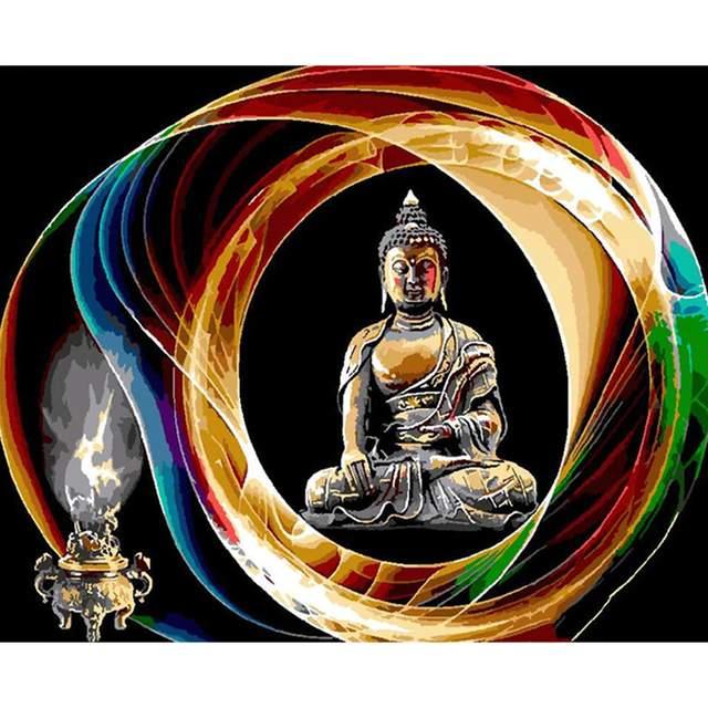 Buddha Circle - DIY Canvas by Numbers Kits