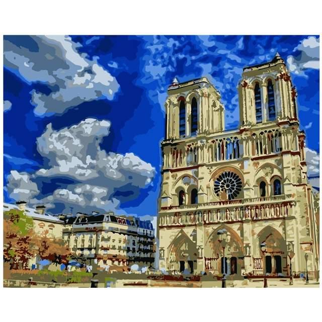Cathedrale Notre Dame de Paris - DIY Paint by numbers Kit