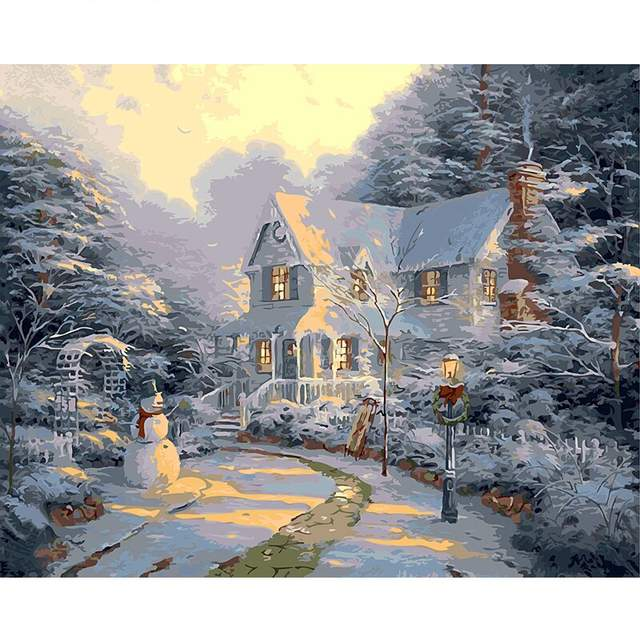 Christmas Morning - DIY Painting by Numbers Kit
