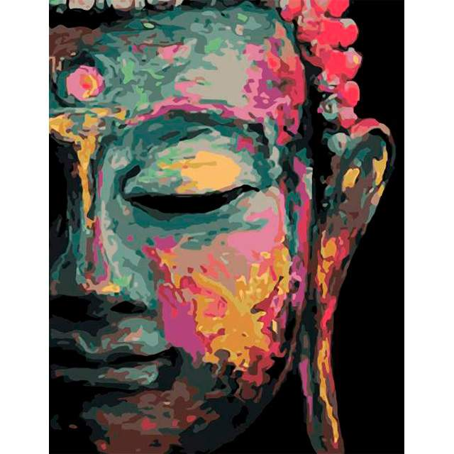 Colorful Buddha - Oil Paint by Numbers for Adults