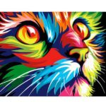 Colorful Cat - DIY Easy Paint by Numbers for Beginner