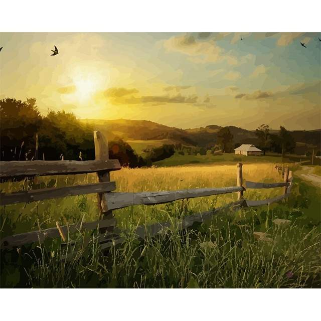 Country Farm - Acrylic Drawing by Numbers Kits