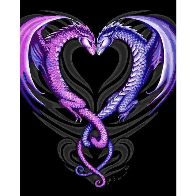 Dragon Heart - Oil Paint by Numbers Kit