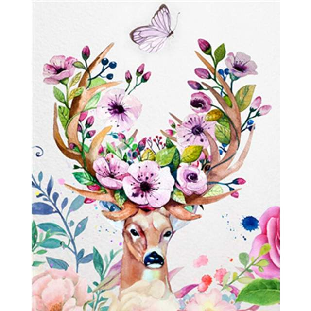 Fairy Forest Deer - Paint by Numbers Kit